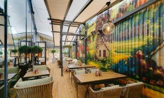 Терраса в ресторане в Охта Молл открыта!